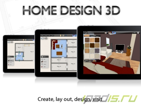Home design 3d by livecad for Home design 3d ipad