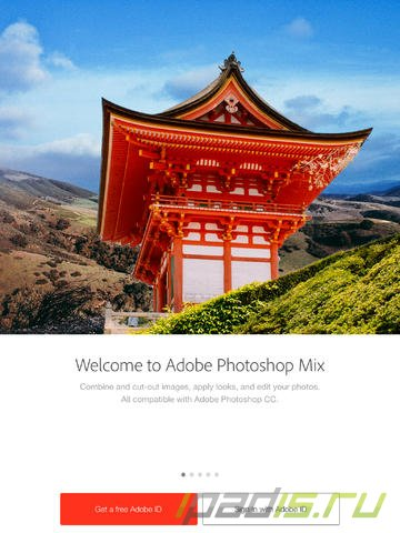 Adobe выпустила фоторедактор Photoshop Mix для iPad